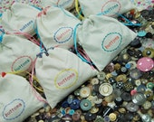 Buttons Vintage and Modern Mix 200g / 0.44 pound (about 150 buttons in a cute handmade bag)
