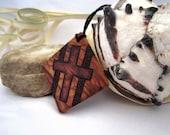 Wood Cross Necklace Pendant Christian Olive Wood Crucifix