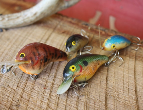Vintage fishing lure collection with rebel cordell big o and for Fishing lure collection