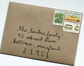 Hand Addressed Envelopes All Cursive Font