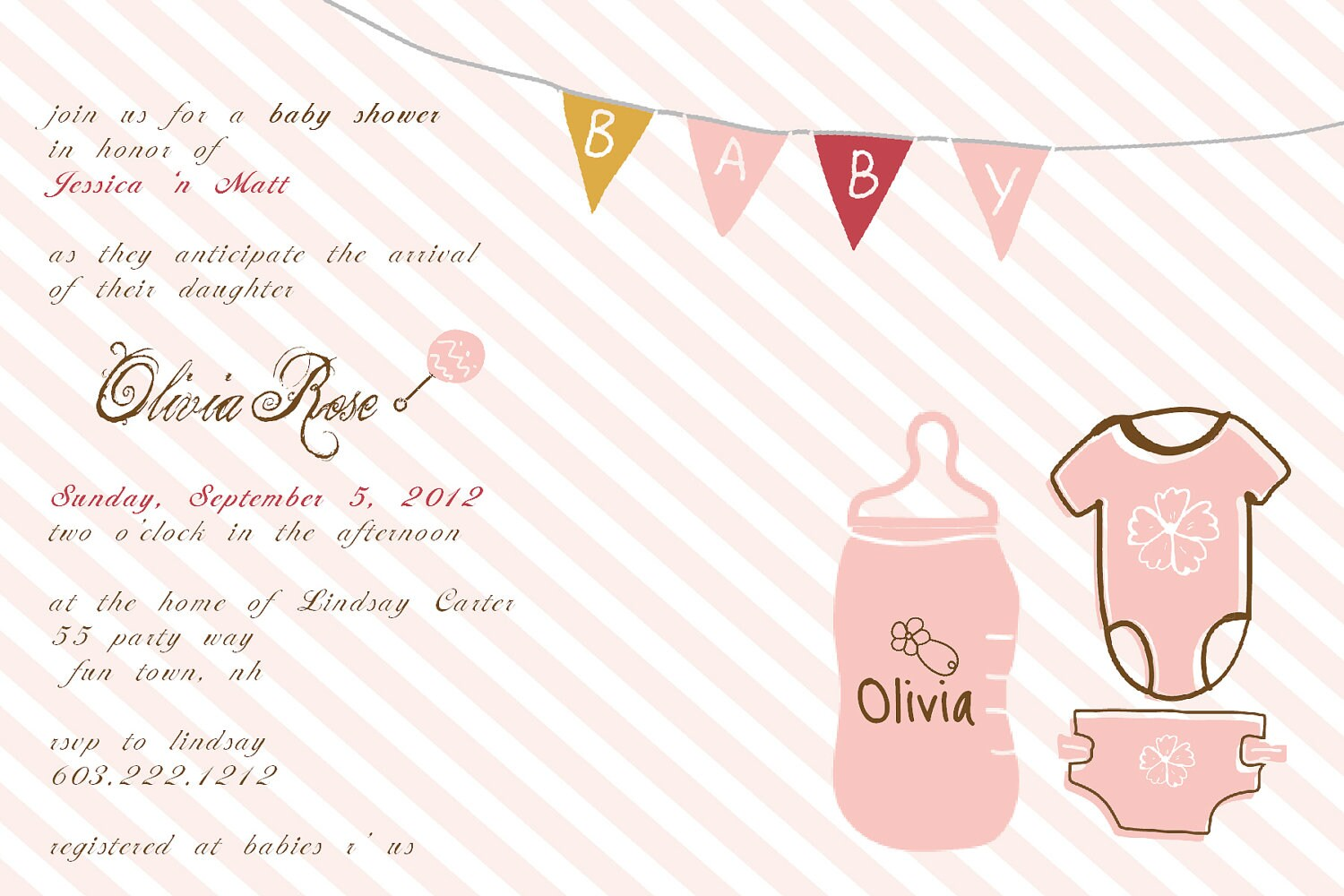 baby shower invitation onesie bottle by asyouwishcreations4u