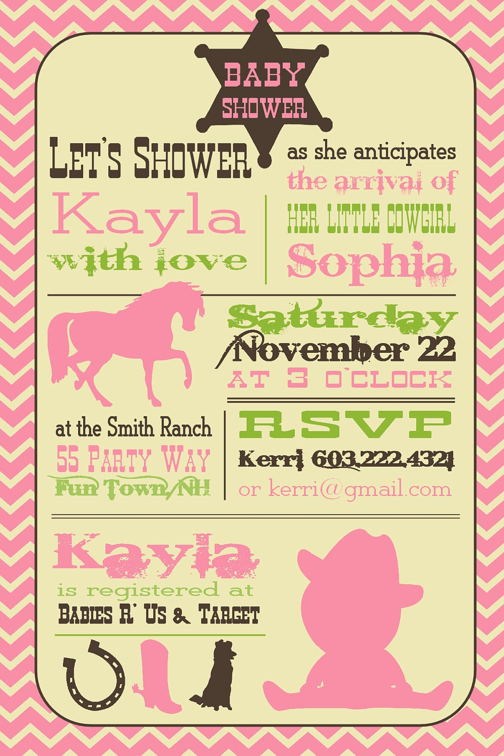 cowgirl baby shower invitation boy invitation cowgirl shower
