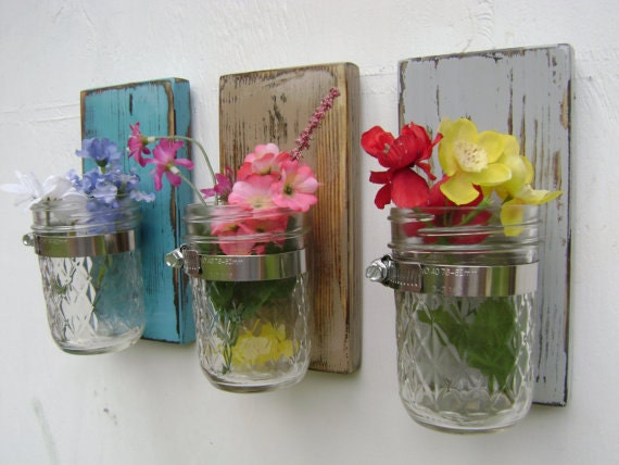 Sconces vases home decoration ideas for Room decor ideas with mason jars