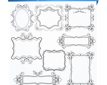 Digital Clip Art...Frames Clipart... Marriage Frames - BUY 1 GET 1 FREE
