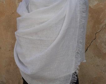Soft Linen Scarf / Spring Scarf / Stonewashed Linen Shawl / Linen Wrap /Womens Linen Scarf /  Mens Linen Scarf / SHIPPING WORLWIDE
