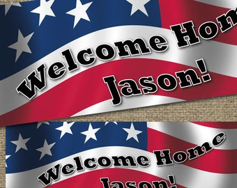 PRINTED BANNER Patriotic 2x6 Customized, outdoor/ indoor poly-vinyl w/ grommets, Military or Patriotic / Customizable #PatrioticBanner