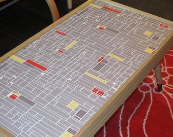 Retro up-cycled coffee table and matching step-end tables Get your 50's groove on Eames is hip
