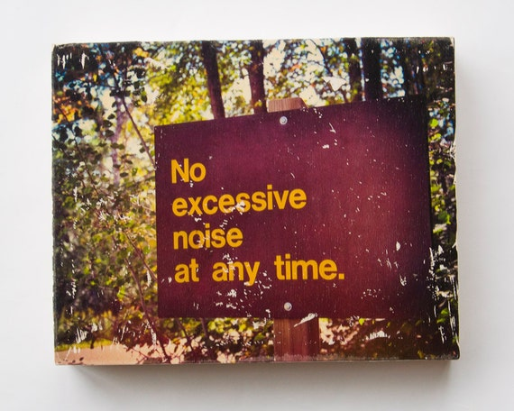 """No Excessive Noise - Limited Edition Fine Art Photo Transfer on 16""""x20"""" Wood Panel by Patrick Lajoie"""