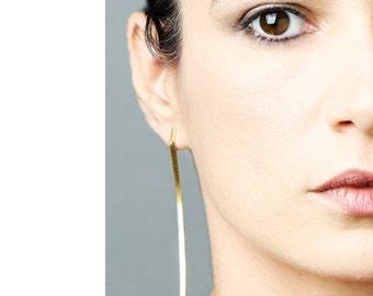ON SALE, Free shipping, Statement earrings, Long gold earring, Bridal earrings, handcrafted jewelry, unusual earrings