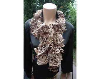 SALE FLAMENCO SCARF  Brown shades 21356 Made by Order