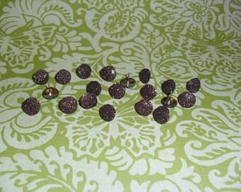 Thumb Tacks Brown Glitter Push Pins Set