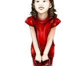 Custom portrait painting in deluxe realistic style