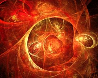 Warm dream - fractal art, abstract art. Digital download, Original home / interior decoration.