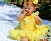 Yellow Pettiskirt and Petti Top in soft Chiffon- inspired by Disney's Beauty and the Beast- Princess Belle- Halloween, Costume