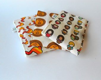 Flies of Fire Baby Burp Cloths - LIMITED EDITION - Set of Three