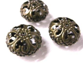 4pc 23x12.5mm antique bronze hollow  bead-5728
