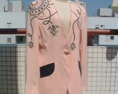 reserved ANN TAYLOR embroidered jacket  circa 1980's