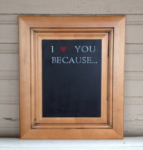 I love you chalkboard (decorative light natural wood)