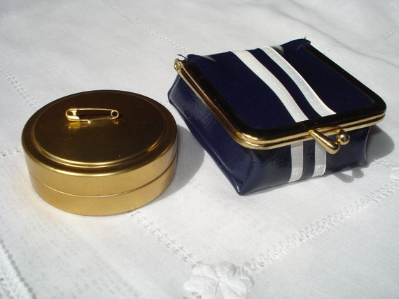 Vintage Sewing Kit and Safety Pin Container