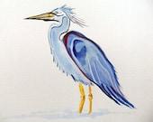 Original Watercolor Painting-Crane