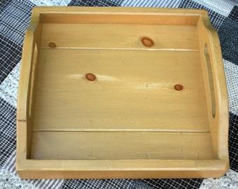 Rustic Handmade Serving Tray - Harvest Gold