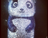 Glittered Panda Iphone 4/4s (also available for the 5)