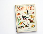 1962 Question and Answer Book of Nature by John R. Saunders, Illustrated by Donald Moss - Vintage Random House Children's Book
