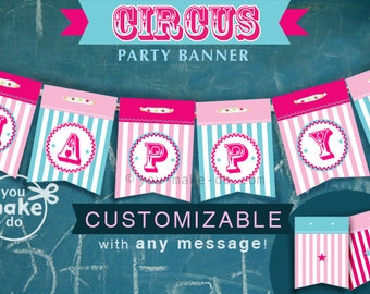 INSTANT DOWNLOAD carnival party carnival baby shower decorations carnival birthday party circus banner circus party banner carnival banner