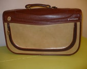 Vintage 60's Grasshopper Suitcase in Two-Tone Leather