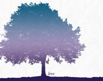 "SALE Trees ""Love"" Art Print (11x14)"