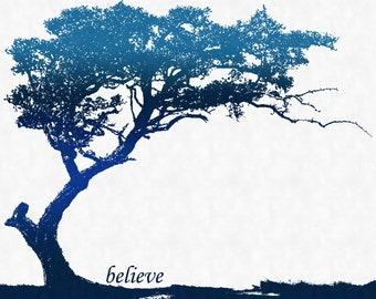 "SALE Trees ""Believe"" Art Print (8x10)"