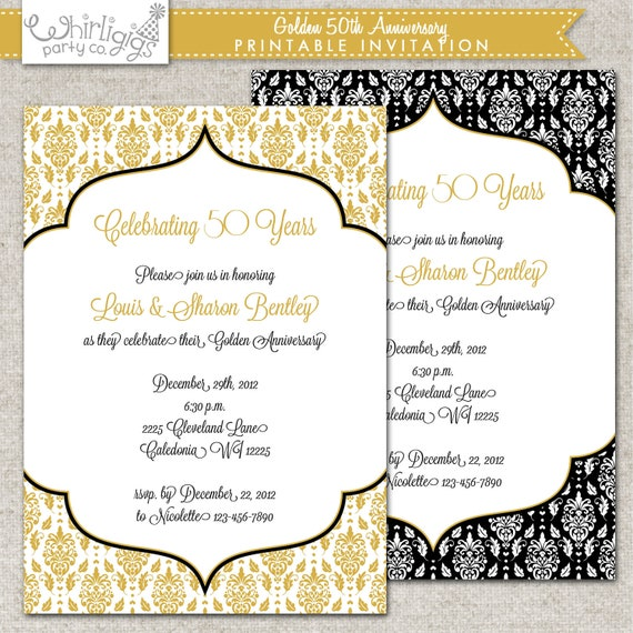 Golden Birthday Invitations for great invitations template