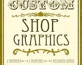 Custom Shop Graphics Set, custom shop banner, custom shop avatar, custom reserved listing image, custom sale banner, sale avatar