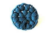 Merino wool crochet pin - deep teal - blue green - choose your color