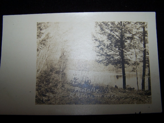 VINTAGE POSTCARD Water river scene