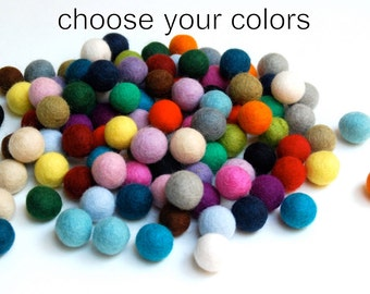 Felt Balls / Custom -32 Count, You Choose the Colors