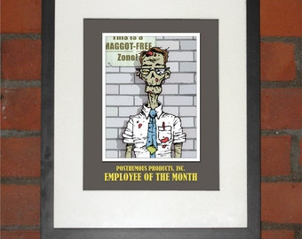 Zombie Employee of the Month Art Print