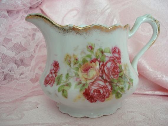 Creamer Shabby Chic Pink Rose Vintage