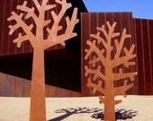 Tree Sculptures in rust, blackened rust or powder coat finish