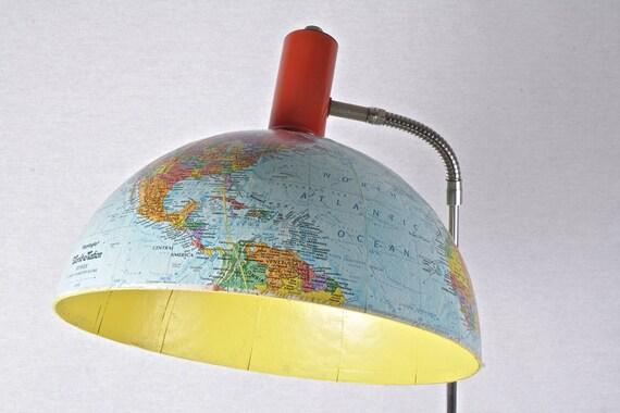Vintage Globe Gooseneck Floor Lamp Recycled OOAK