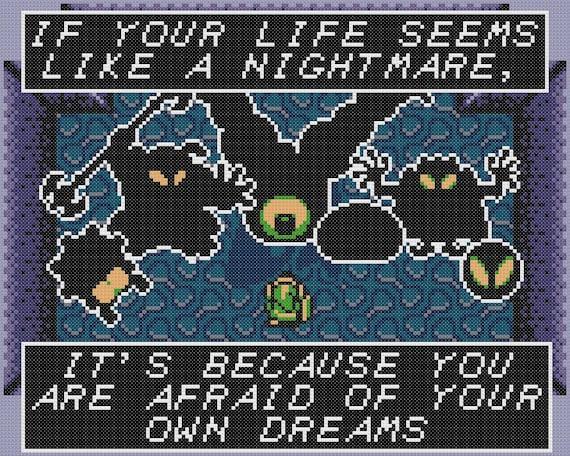 Link's Nightmare Cross Stitch Pattern