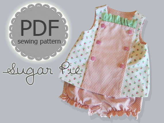 Sugar Pie Reversible Bib Top and Bloomer Pattern. Clothing