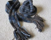 Adorable Baby's Rolled Rim Hat and Scarf Set