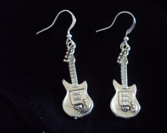 Rock On Guitar Earrings