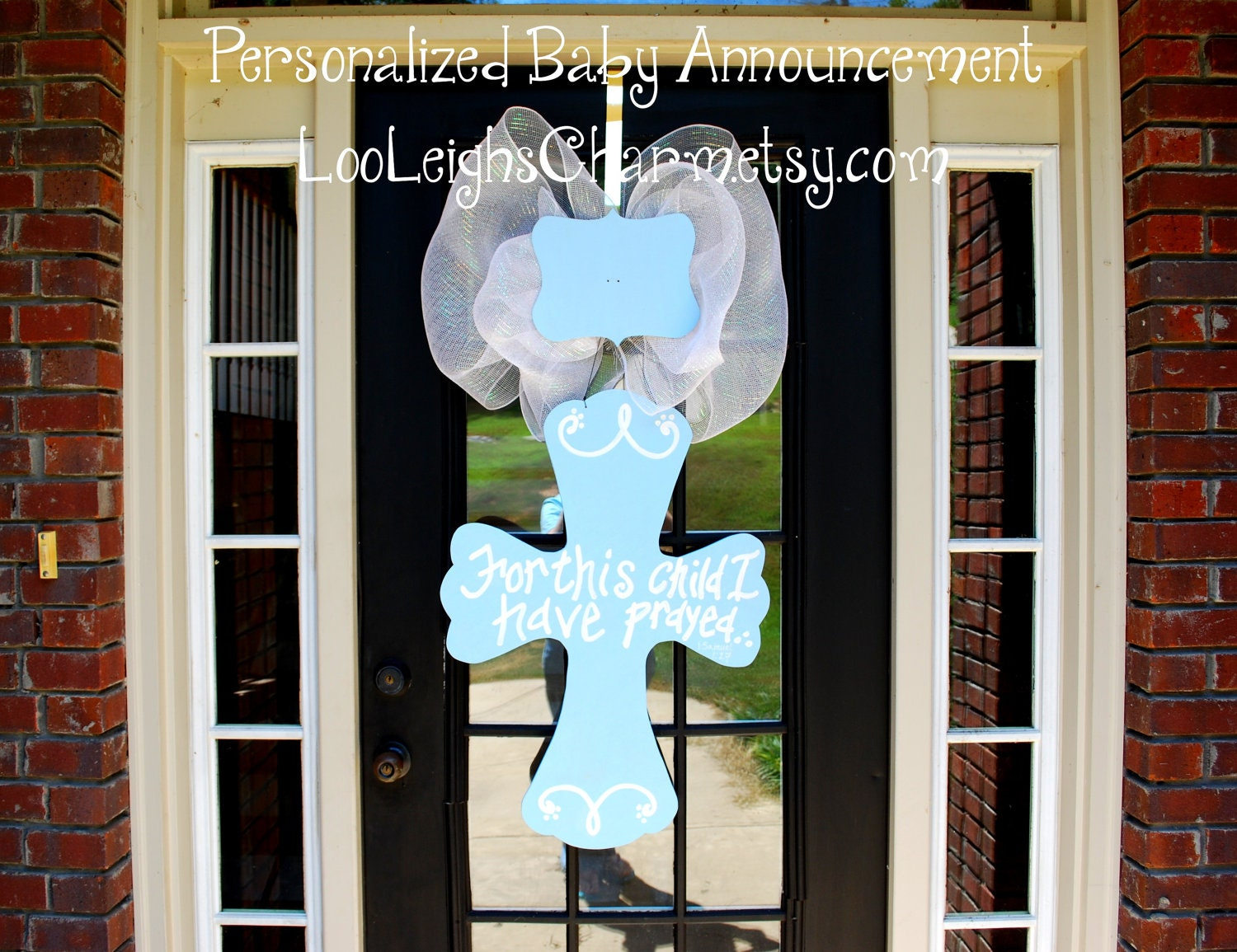Baby hospital door decoration baby door hanger custom baby for Baby boy hospital door decoration