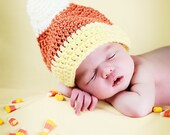 Candy Corn crocheted hat for kids, Halloween hat, Fall hat, Baby Halloween costume, newborn photo prop