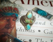 Very Old Pawn Turquoise Native Southwest Ring size 9  Black Friday, Cyber Monday Christmas, Fathers Day