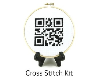 Home Sweet Home QR Code Cross Stitch KIT