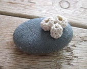 Crochet barnacle rock, a natural stone and crochet cotton paperweight, No.4