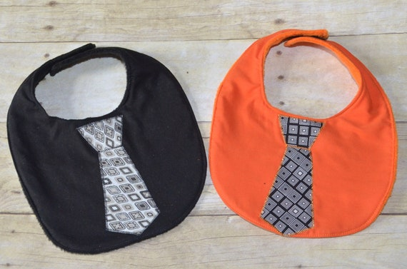 Sale Set of Two Fall Time Tie Baby Bibs was 8.00 now 5.00